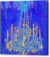 Abstract Cobalt Blue Chandelier Canvas Print