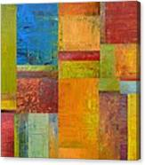 Abstract Color Study Collage Ll Canvas Print