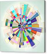 Abstract Color Wheel Canvas Print
