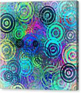 Abstract Colorful Rings Canvas Print