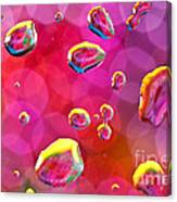Abstract Colorful Water Drops Canvas Print