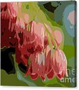 Abstract Coral Bells Canvas Print