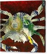 Abstract Crab Canvas Print