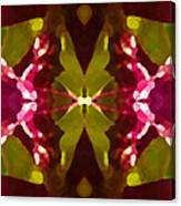 Abstract Crystal Butterfly Canvas Print