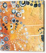 Abstract Decorative Art Original Circles Trendy Painting By Madart Studios Canvas Print