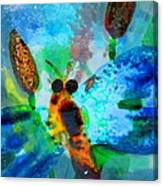 Abstract Dragon Fly Canvas Print