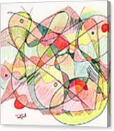 Abstract Drawing Twenty Canvas Print