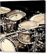 Abstract Drum Set Canvas Print