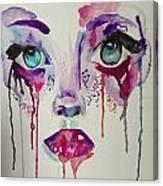 Abstract Eyes Canvas Print