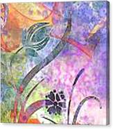 Abstract Floral Designe - Panel 2 Canvas Print