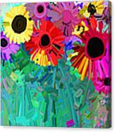 abstract - flowers- Flower Power Four Canvas Print