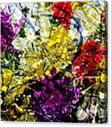 Abstract Flowers Messy Painting Canvas Print