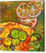 Abstract Food Kitchen Art Canvas Print