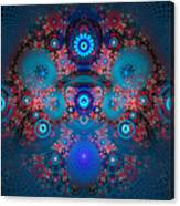 Abstract Fractal Art Blue And Red Canvas Print