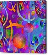 Abstract Fractillious - Episode One  Southwestern Canvas Print