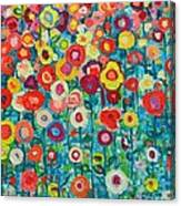 Abstract Garden Of Happiness Canvas Print
