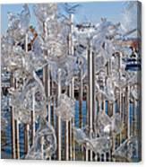 Abstract Glass Art Sculpture Canvas Print