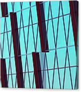 Abstract Glass Surface With Geometric Canvas Print