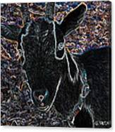 Abstract Goat Canvas Print
