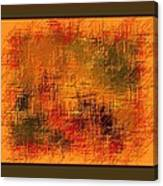 Abstract Golden Earthones With Quad Border Canvas Print