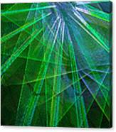 Abstract Green Lights Canvas Print