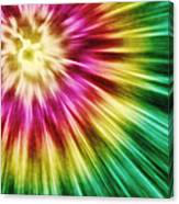 Abstract Green Tie Dye Canvas Print