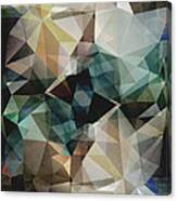 Abstract Grunge Triangles Canvas Print