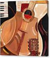Abstract Guitar Canvas Print