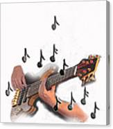 Abstract Guitar Player Canvas Print