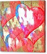 Abstract Hearts 16 Canvas Print