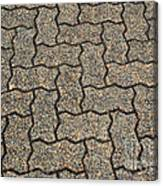 Abstract Interlocking Pavement Canvas Print