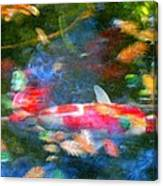 Abstract Koi 1 Canvas Print