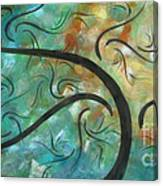 Abstract Landscape Painting Digital Texture Art By Megan Duncanson Canvas Print