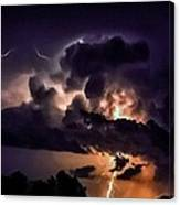 Abstract Lightning 14 Canvas Print