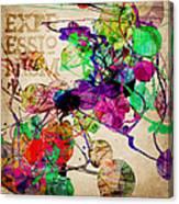 Abstract Mixed Media Canvas Print