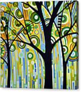 Abstract Modern Tree Landscape Spring Rain By Amy Giacomelli Canvas Print