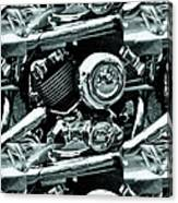 Abstract Motor Bike - Doc Braham - All Rights Reserved Canvas Print