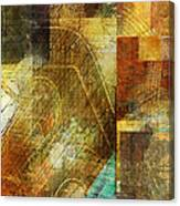 Abstract Music Shop Window One Canvas Print
