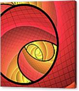 Abstract Network Canvas Print