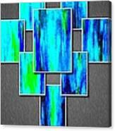 Abstract Ocean Tiles Canvas Print