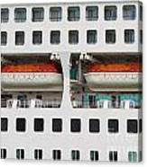 Abstract Of Lifeboats On A Large Cruise Ship Canvas Print