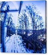 Abstract On A Ski Lift Canvas Print