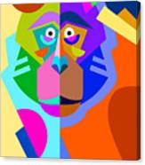 Abstract Original Monkey Drawing In Canvas Print