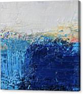 Abstract Painted Blue Art Backgrounds Canvas Print