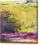 Abstract Painted Yellow Art Backgrounds Canvas Print