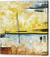 Abstract Painting Chocolate Brown Golden Yellow And Gray