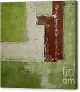 Abstract Painting Green 13013 Canvas Print
