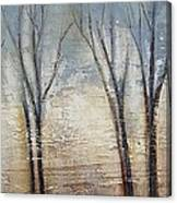 Abstract Painting Morning Fog Canvas Print