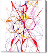 Abstract Pen Drawing Fifty-one Canvas Print