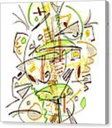 Abstract Pen Drawing Fifty-seven Canvas Print